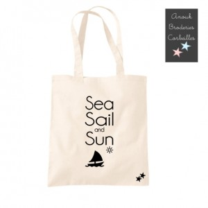 Tote Bag Sea Sail and Sun