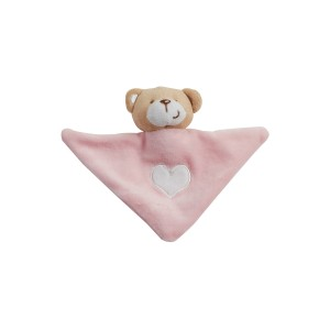Doudou ourson rose triangle
