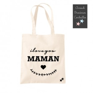 Tote Bag I love You Maman