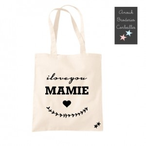 Tote Bag I love You Mamie
