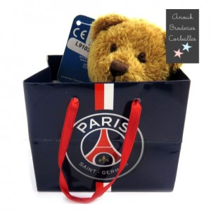 "Peluche Teddy ""PSG"" marron"